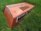 Old Vintage Steel Allis-Chalmers Lawn Tractor Hood : repurpose , steampunk