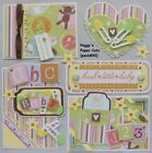 Premade Scrapbook Pages Mat Set Kit HUSH LITTLE BABY Sewn Album Layout pack890
