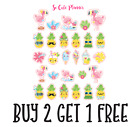 323 Summer Fun Flamingos and Pineapples Planner Stickers Erin Condren