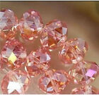 Wholesale Faceted Pink AB Rondelle glass Crystal Beads 70pcs 68mm