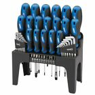 Draper Tools 44 Piece Screwdriver, Hex Key, and Bit Set with Stand Blue 81294#