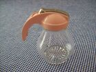 NOS Vintage Post 1950's FEDERAL TOOL CORP Glass Syrup Dispenser~Pink Peach Lid