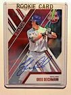 2017 ELITE EXTRA ED GREG DEICHMANN RC RED DIE CUT AUTOGRAPH 43 15 75