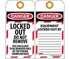 LOTAG35ST Polytag National Marker Danger LOCKED Out Do Not Remove Tag (Pack o...