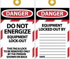 LOTAG8ST Polytag National Marker Danger Do Not Energize Equipment Lock-Out Ta...