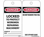 RPT79ST Polytag National Marker Danger LOCKED to Protect Workmen Repairing Ma...
