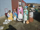 empire christmas nativity set LIFE size outdoor lighted 10 psc vintage