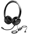 Mpow 071 USB Headset 3.5mm Computer Headset with Microphone Noise Cancelling ,