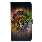 Harry Potter Hogwarts Watercolor Leather Wallet Card Case For iphone 6 6s 7 Plus