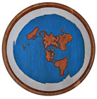 Flat Earth Map - Wall Art Large - Plaque -  Picture, 3d Relief - One of a Kind