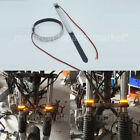 2Pcs Mtorcycle Turn Signal Light Clear Lens For 45mm-70mm Fork Circle LED Strip