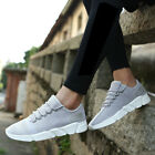 Mens Running Sneakers Outdoor Sports Jogging Casual Flats Shoe Black White Gray