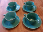 Homer Laughlin Harlequin Set of 4 Cups & Saucers - Turquoise
