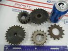Lot of 5 Steel INDUSTRIAL GEAR LOT COG SPROCKET STEAMPUNK LAMP BASE CAST IRON 03