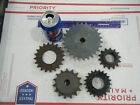 Lot of 5 Steel INDUSTRIAL GEAR LOT COG SPROCKET STEAMPUNK LAMP BASE CAST IRON 04