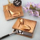 40 Gold High Heel Shoe Compact Mirror Wedding Bridal Baby Shower Party Favors