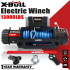 X BULL 12V 13000LBS Electric Winch Synthetic Rope Truck Jeep OFFROAD Trailer 4WD