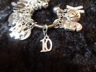 Celebrate Your 10 pound Weight Loss with 10 Charm for Weight Watchers Keychain