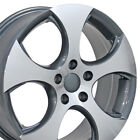 17 Gunmetal GTI Detroit Wheels Machined Set of 4 Rims Fit Volkswagen VW Golf CP