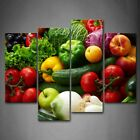 Framed Colorful Vegetables Wall Art Decor Painting Canvas Print Food Picture