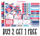 Celebrate America Sample Planner Stickers July 4th Erin Condren Happy Planner