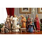 Nativity Set Indoor Christmas Holiday Scene Resin Decor Three Kings Gift Small