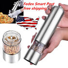 2xAutomatic Electric Pepper Mill Salt Grinder Spice Sauce Muller Stainless Steel