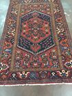 Semi Antique Hand Knotted Persian Hamadan-Zanjan Geometric Rug 4x7,4'4