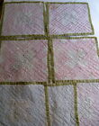 Antique Patchwork Hand Quilt Block Squares Lot of 7 Vintage 4 with Embroidery