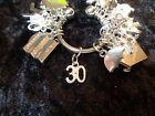 Celebrate Your 30 pound Weight Loss with 30 Charm for Weight Watchers Keychain