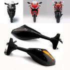 FOR Yamaha FZ6R 2010-2014 LED TURN SIGNAL REARVIEW SIDE RACING MIRRORS BLACK SET