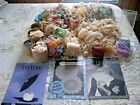 HUGE VINTAGE ESTATE LOT OF CROCHETED TATTED TRIM EDGING, SOME DOILIES  - COLORS