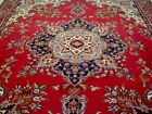 9X12 1940's SPECTACULAR FINE ANTIQUE HAND KNOTTED 70+YRS WOOL TABRIZ PERSIAN RUG
