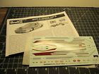 scale parts lot, Revell t-bird prostreet instruction, decals, and glass parts
