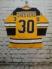 GERRY CHEEVERS autographed signed Bruins yellow Jersey HOF 85 JSA witness