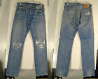 Vintage Levis 501 Big E Redline Selvedge 093 Destroyed Jeans 32 x 32 Zipper Fly