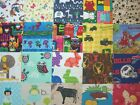 104 Kid Prints I SPY quilt block sew cotton fabric 5 inch square All different