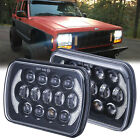 Dot Approved 5x7 7x6 Halo LED Projector Lens Headlight for Jeep XJ YJ Truck 105W