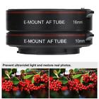 Metal Autofocus AF Macro Extension Tube Ring Adapter Mounts SonyNEX A7A7R Camera