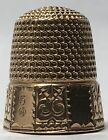 Sons - Solid Gold Thimble - 10 Panel Hand Stamped - c1880s