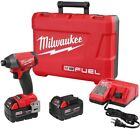 Milwaukee Hex Impact Driver Kit w Batteries Charger Brushless Cordless 18-Volt