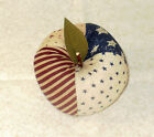 NEW~HandCrafted Fabric Apple Bowl Fillers Farmhouse Decor Fruit AMERICANA #6