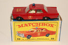 MATCHBOX LESNEY 59C FORD GALAXIE FIRE CHIEF CAR BLUE LIGHT NICE BOXED TYPE E