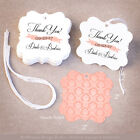 50 Thank Your Personalized Wedding Favor Tags Gift Tags Bridal Shower  Damask
