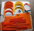 LARGE LOT HOT WHEELS TRACK CURVES STRAIGHT LOOP