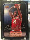 07-08 UD CHRONOLOGY MOSES MALONE #91 OF 99 AUTOGRAPH 76ERS AUTO
