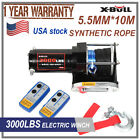 X-BULL Electric Winch 3000LB 12V Synthetic Rope Wireless 4WD ATV Free Shipment