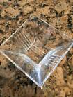 TIFFANY AND CO METROPOLIS CRYSTAL GLASS SQUARE BOWL 4 3 8 EX COND CANDY DISH