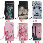 Eiffel Tower Pink Elephant Cat And Bees PU Leather Phone Case For Samsung S9Plus