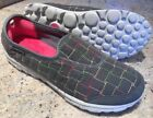 SKECHERS Snuggle Womens 11 Gray Quilted Walking Sneakers Slip On Shoes 13763